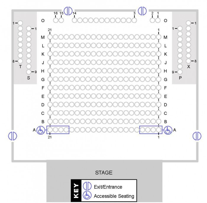 Seating Plan Main Auditorium 2015