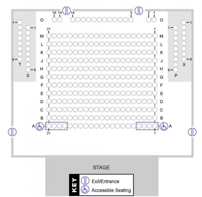 Seating Plan Main Auditorium 2015