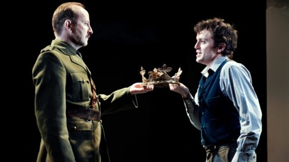 Frank McCusker (Bolingbroke), Patrick Moy (Richard), Richard II by William Shakespeare, Abbey Theatre, Directed by Michael Barker-Caven